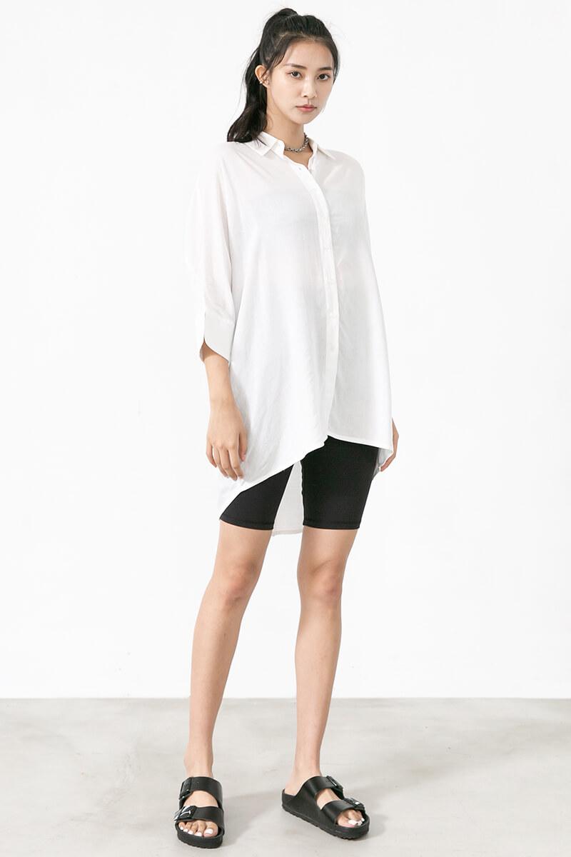 寬鬆棉麻襯衫