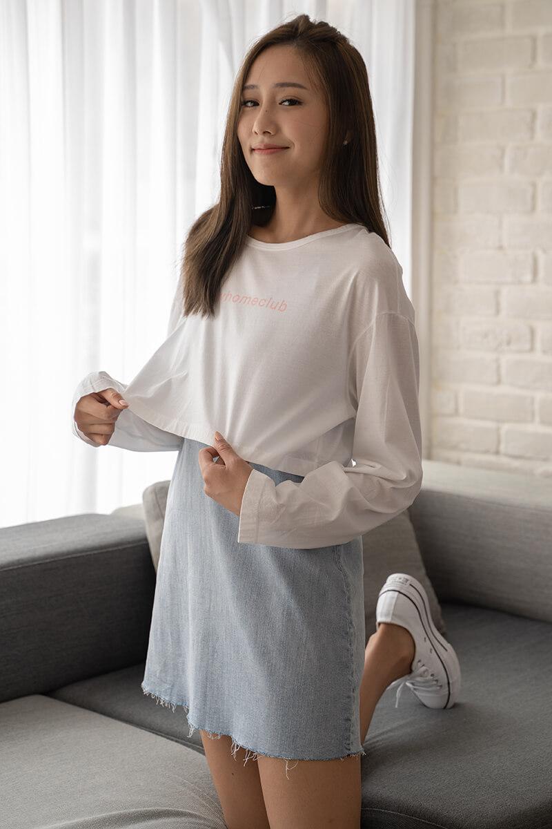 HashTag印花長袖T恤