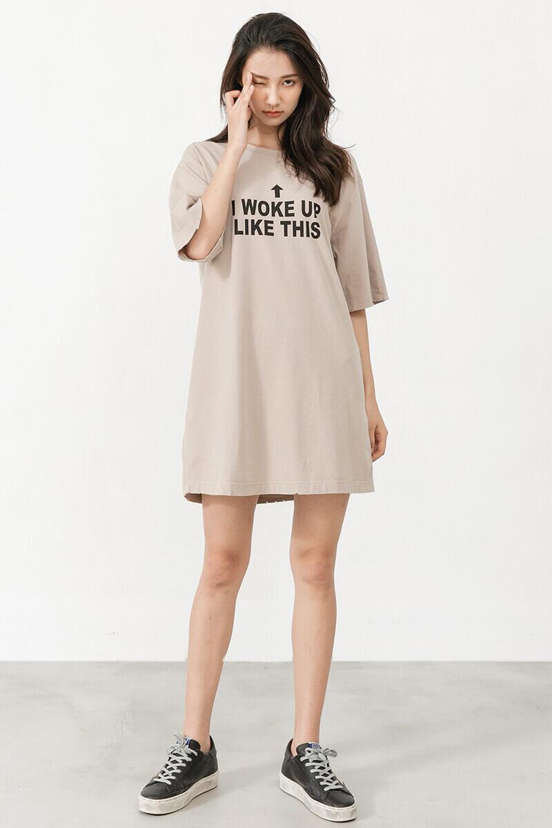 剪破設計印花T恤