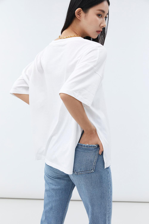 口袋寬鬆T恤