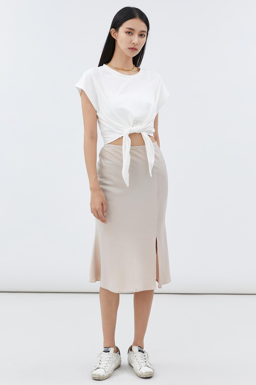 緞面魚尾裙