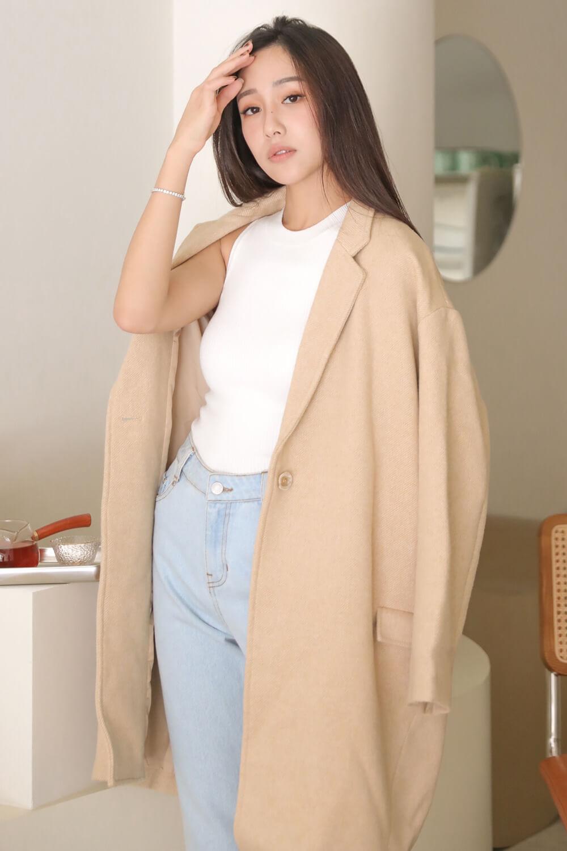 雙口袋羊毛大衣