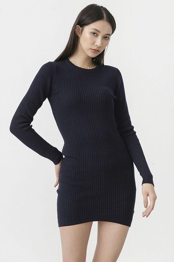 合身版針織洋裝