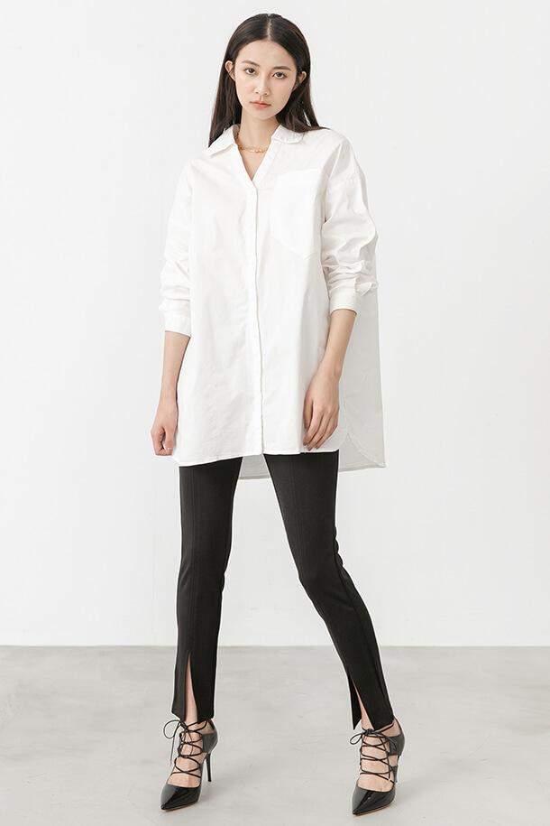 口袋裝飾寬鬆襯衫