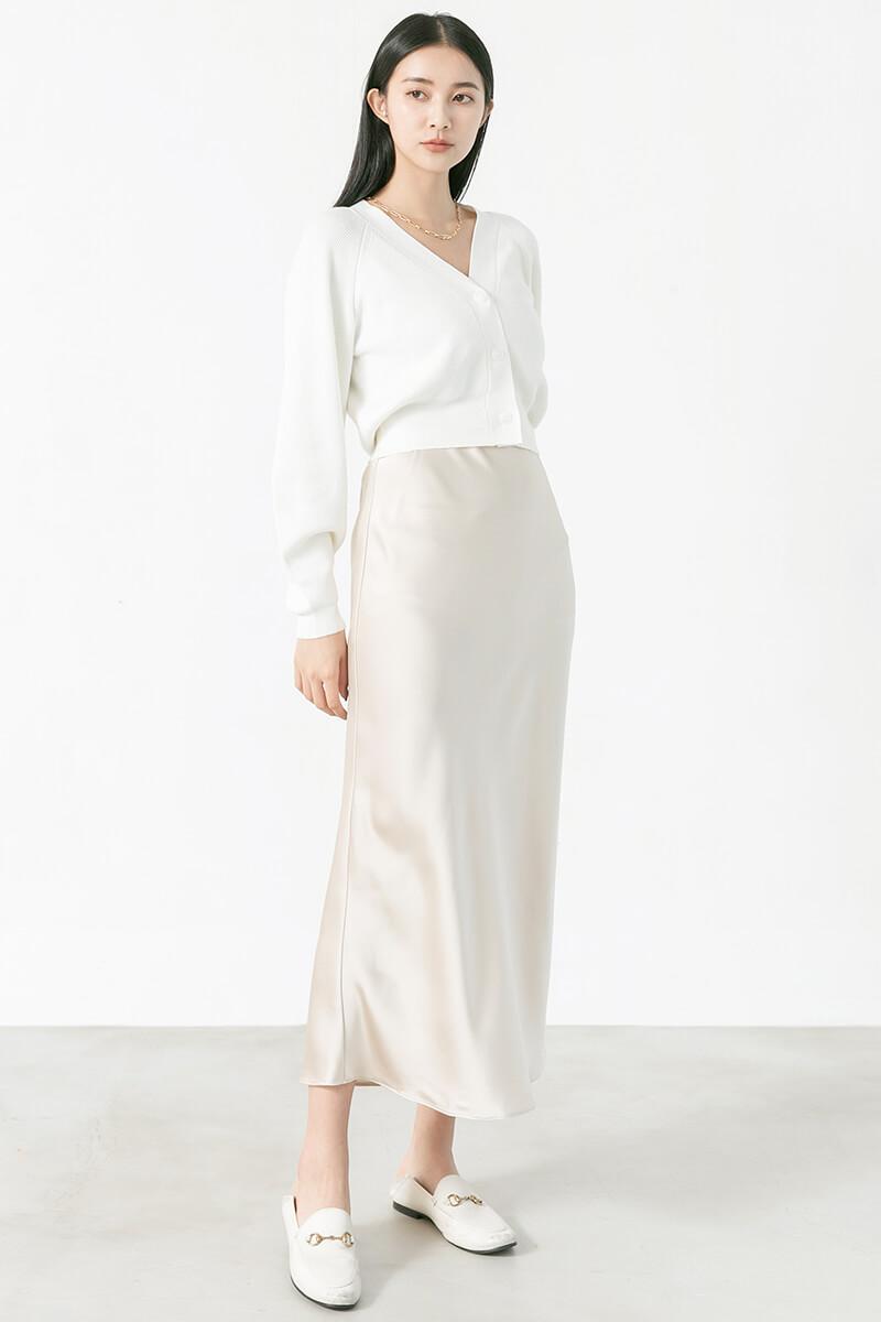 緞面鬆緊魚尾裙