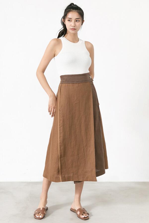 一片式配色長裙