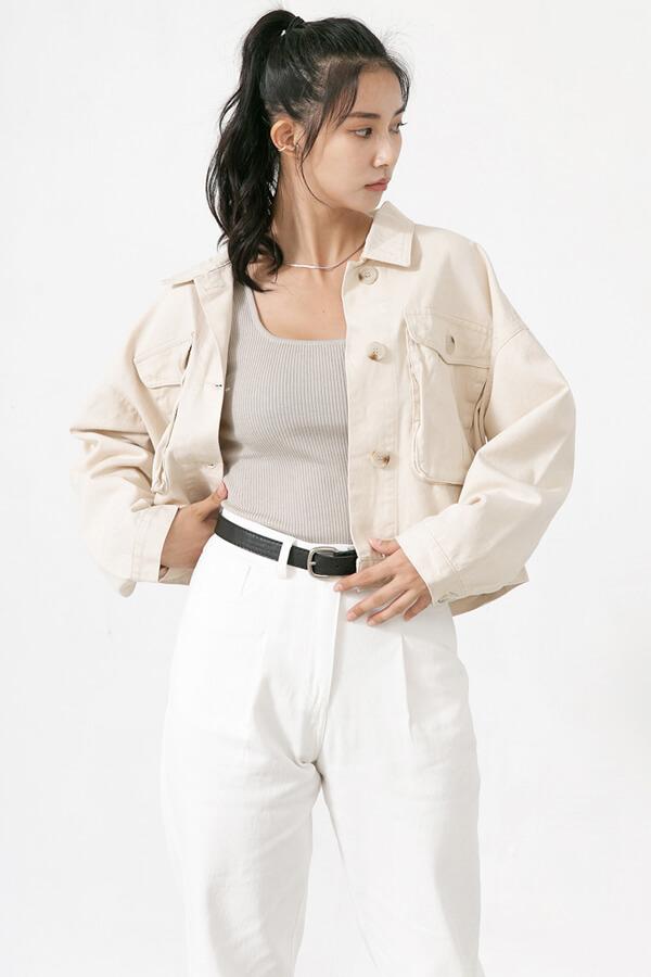 口袋裝飾外套