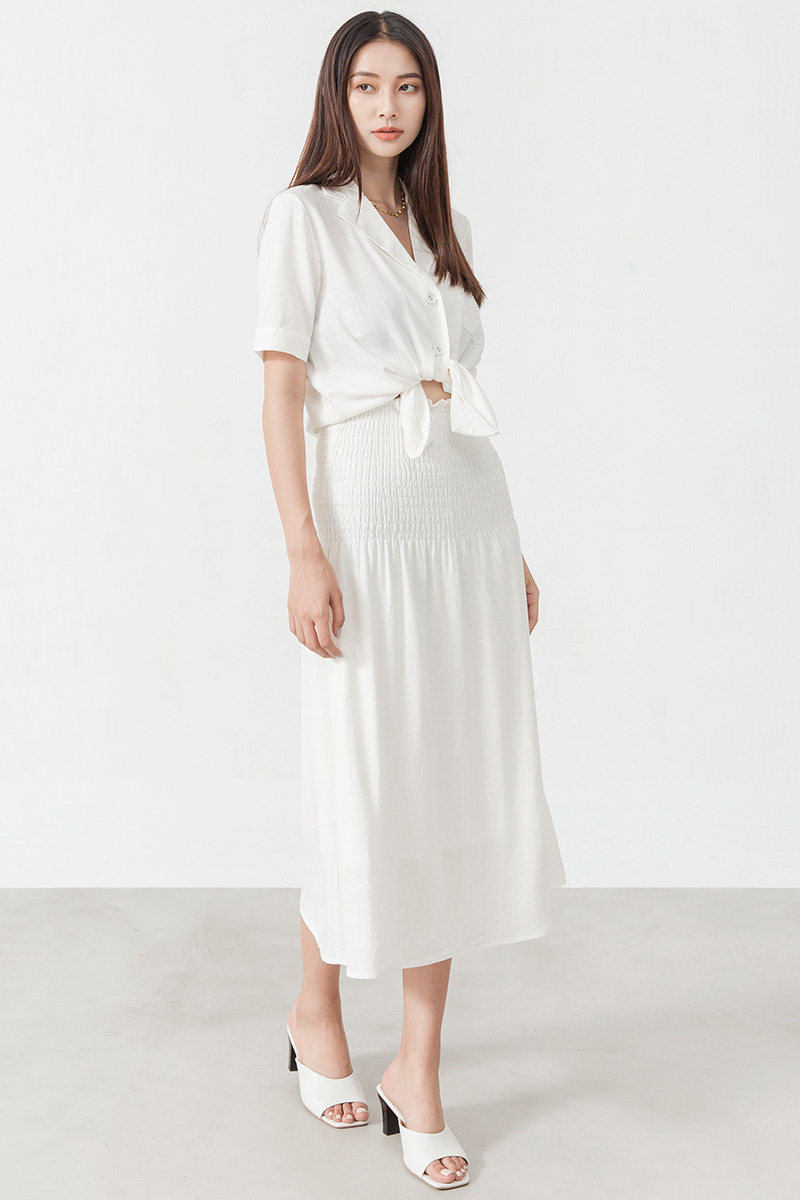 棉麻兩穿式半身裙