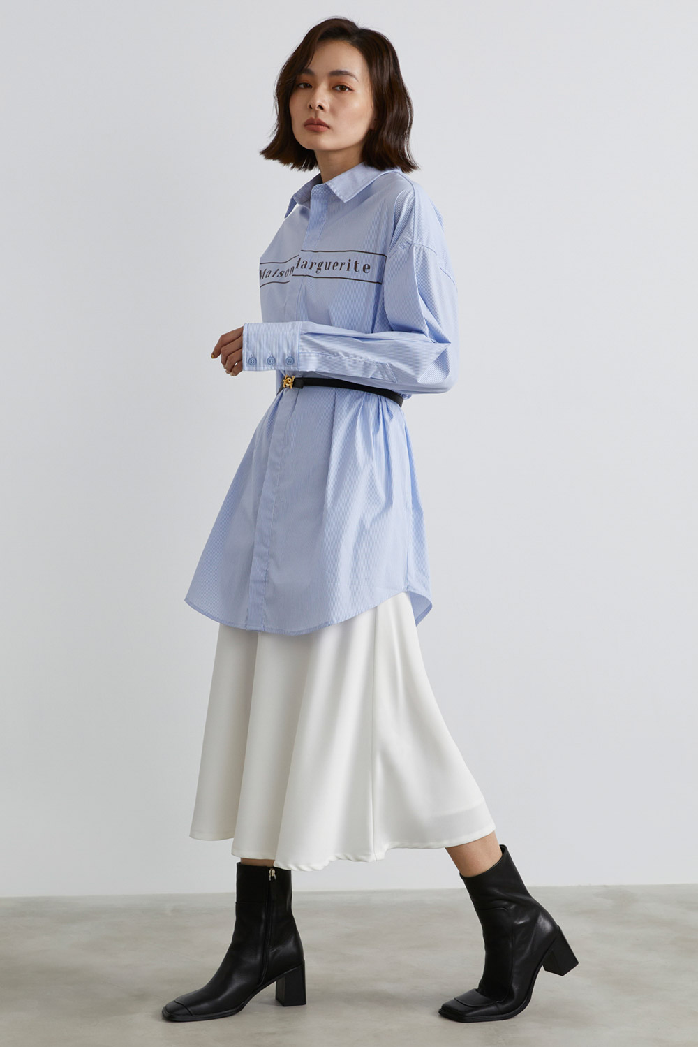 緞面魚尾長裙