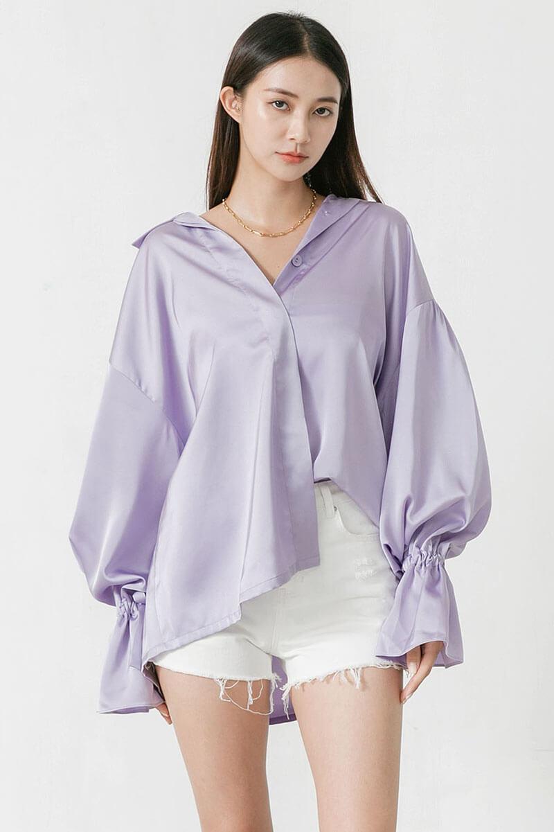 寬版燈籠袖襯衫