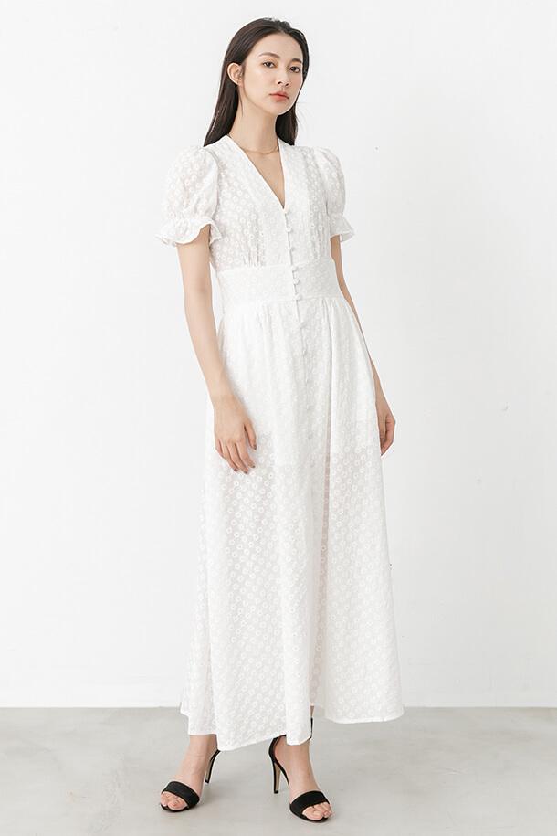 刺繡排釦洋裝