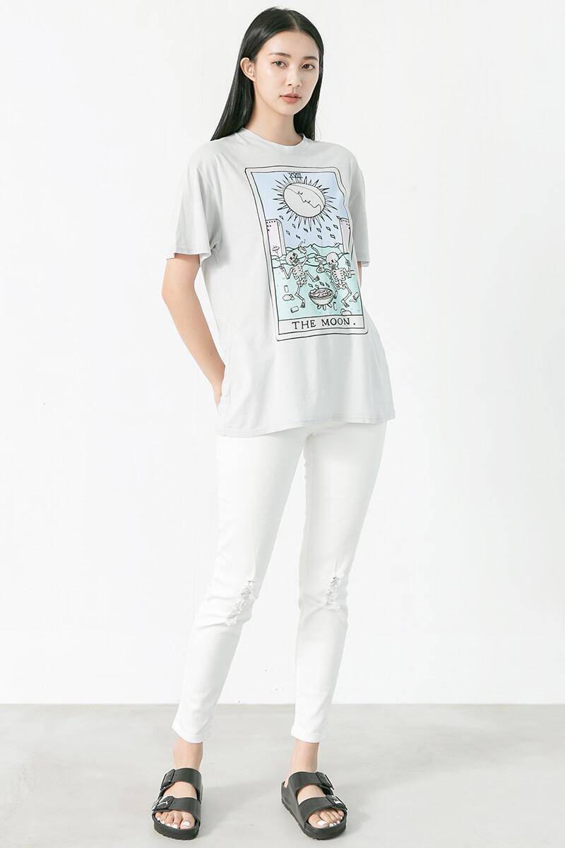 The Moon印花T恤