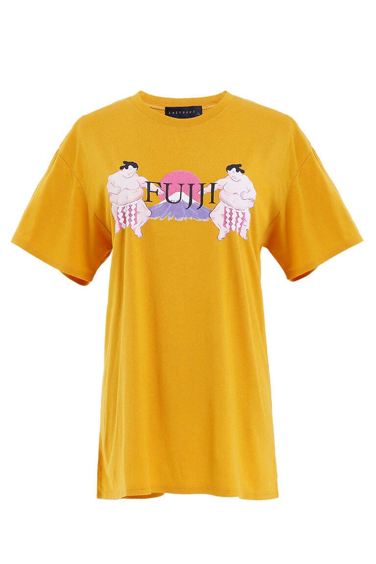 Fujji印花T恤