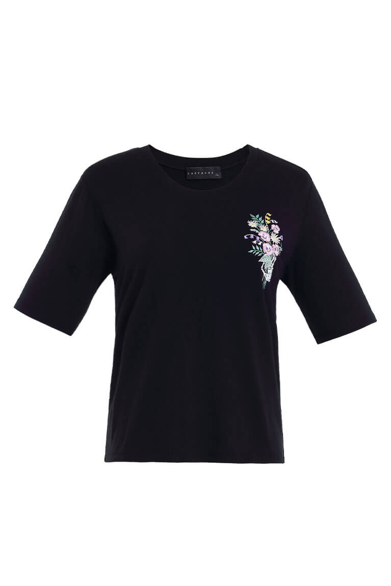 Flowers for you刺繡T恤