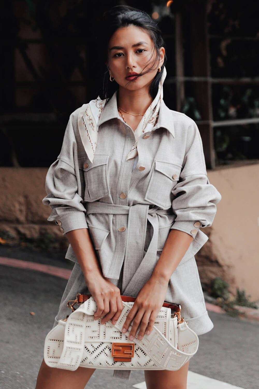 繭型袖綁帶襯衫