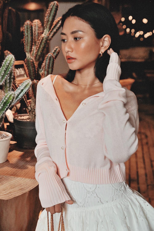 珍珠釦開襟衫