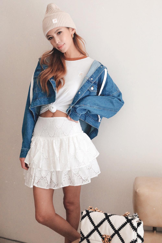 花邊蕾絲短裙