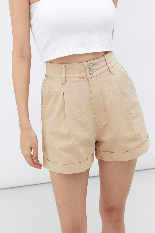 褲口反褶短褲