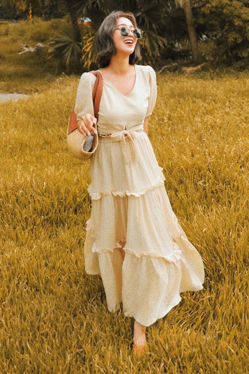 荷葉邊長裙