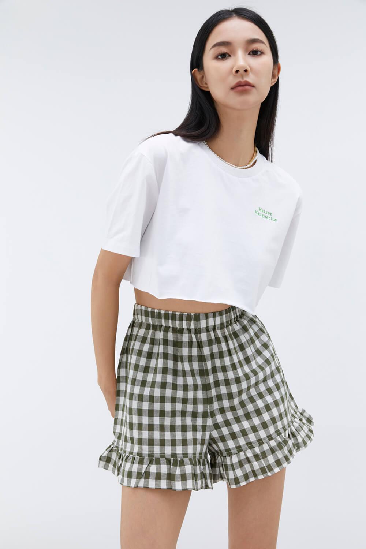 短版繡花T恤