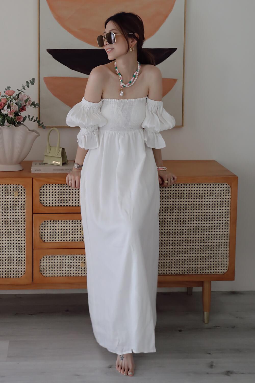 皺褶棉麻洋裝