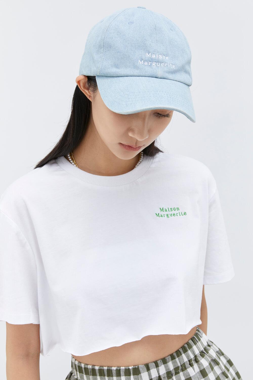 丹寧品牌繡花帽