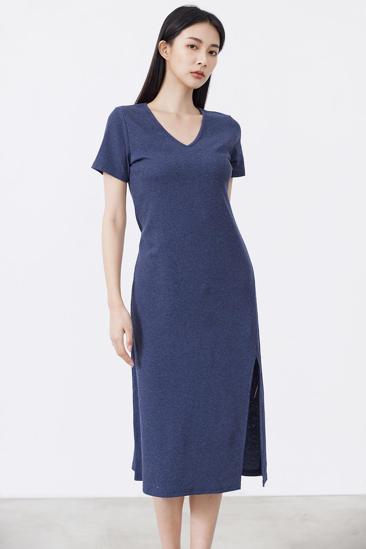 羅紋連身長裙