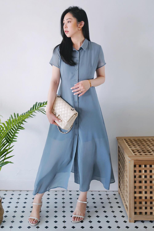 長版襯衫洋裝